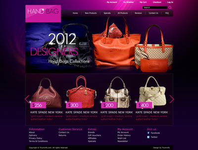 Design web page with HTML for any ecommerce web site