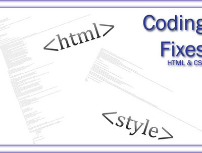 Fix and validate your HTML  and CSS problems