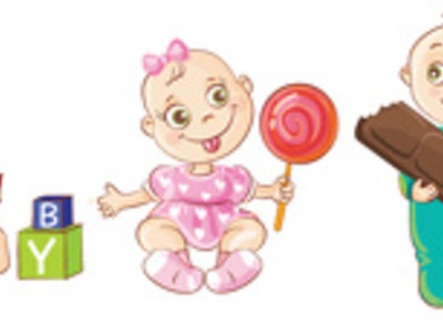 Create a cute baby character or mascot