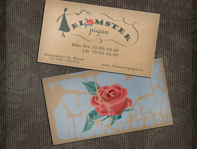Design a vintage or retro style business card