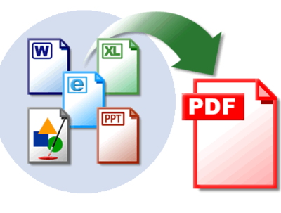 Convert any word, excel, html or image files to pdf