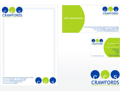 Design your business stationery - business card, compliment slip and letterhead