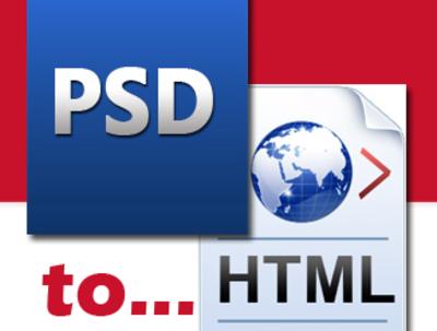 Convert PSD to HTML5 + CSS3