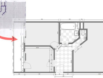Draw floor plan, redraw from sketch