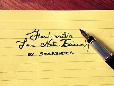 Ghostwrite your text in my awesome cursive handwriting
