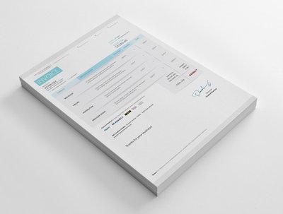 Design designer invoice