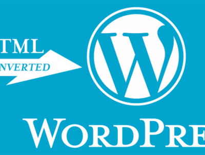 Convert html to wordpress