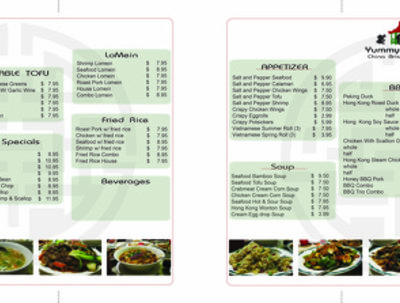Design a A4 trifold menu for you