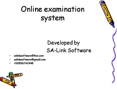 "Provide you the software ""online examination system"""