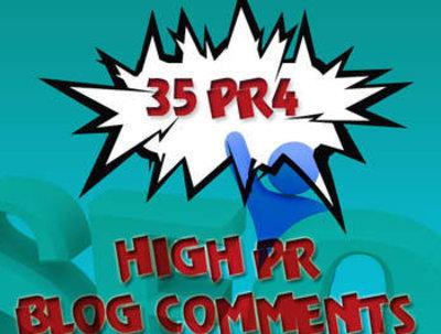 Create 35 PR4 High PR do follow blog comments manually