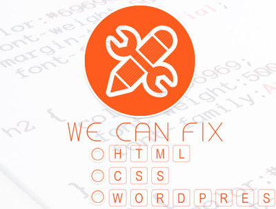 Fix Wordpress/ HTML/ CSS Error and Bug