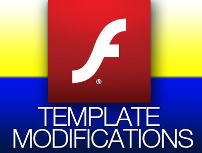 Edit, modify, update flash templates professionly