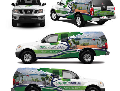 Make beautiful car wrapping advertising design