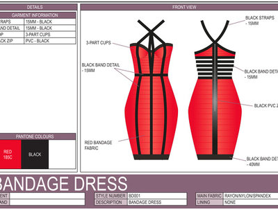 Create a Fashion Technical Drawing / Design Spec