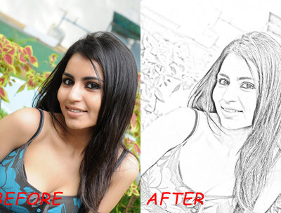Change your digital image to pencil sketch art