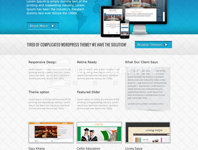 Develop  HTML/CSS sites in to fully responsive WordPress themes