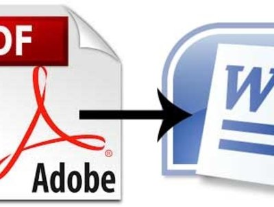 Convert a PDF back to Word format