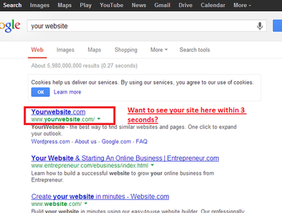 Index any website or blog in Google within 3 seconds