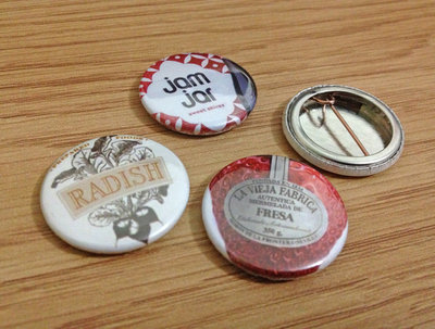 Design and make up 15 button badges