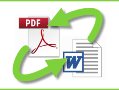 Convert a pdf doc to word doc (vice versa)