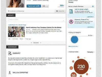 Design, format & add content your LinkedIn profile into a dazzling professional guise