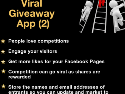 Create a giveaway app (integrates with all autoresponders)