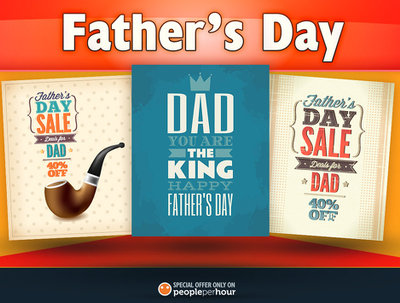Design an awesome Father's Day illustration