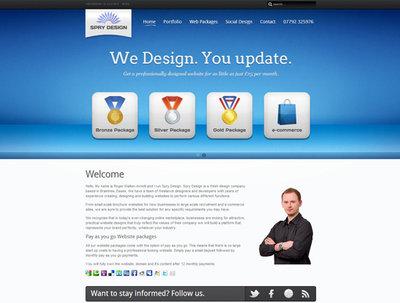 Design you a super sleek CMS website