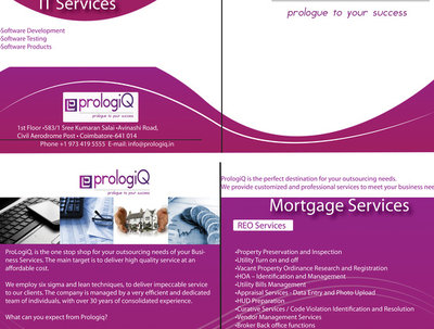 Make an eye catching  2 page front and back folding brochure design for your company