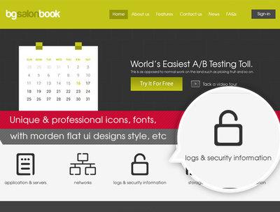 Design your website homepage, landing page mock-up