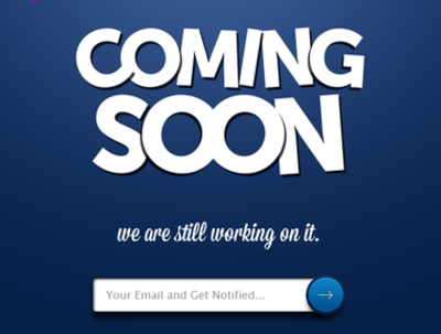 Make a coming soon page for your upcoming website
