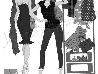 Sketch a fashion illustration in desired media