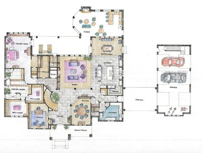 Create  functional and attractive interior design sketch / floor plan