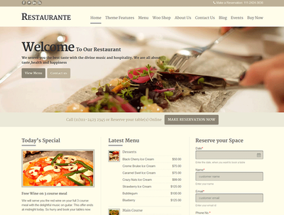 Make you WordPress responsive restaurant booking website
