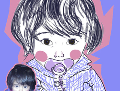 Draw a portrait of your  baby in my own style