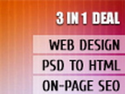 Design your website & convert design files into xHTML & do the onpage SEO
