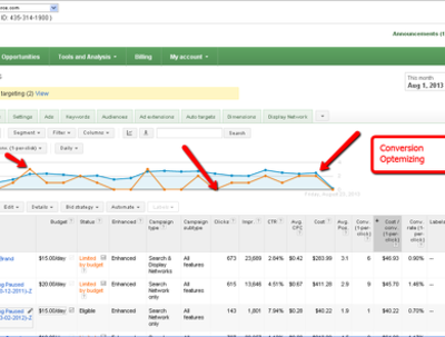 Optimize Adwords Account for best CTR, conversion & ROI
