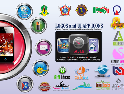 Design your corporate logos and UI apps logos