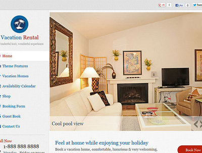 Design/develop WordPress vacation hotels rental website