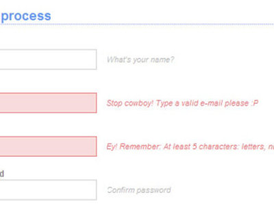 Write client side jquery validation for your website or application - 3 forms