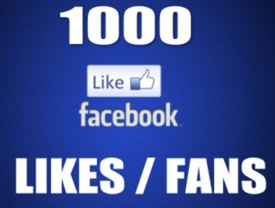 Add 1,000 Real Facebook Likes from real and active people to your Fanpage or Website