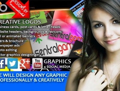 Design a logo and other graphics (extras) to give your business a professional look
