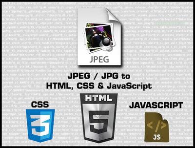 Convert JPEG (JPG) to HTML, CSS and JavaScript