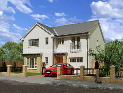 Provide 2 3D visualisations of your new house design