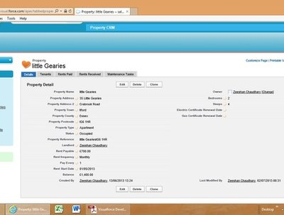 Design, develop a Salesforce.com CRM system