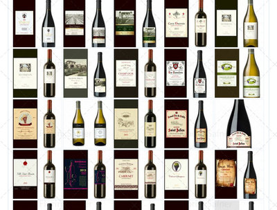 Design wine labels, all styles and customized shapes