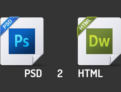 Convert any given PSD to static HTML site