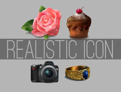 Create realistic icon of any object