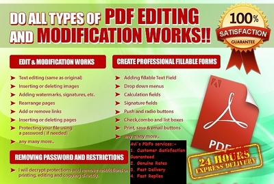 Make 8 changes/edits/modifications to your PDF file