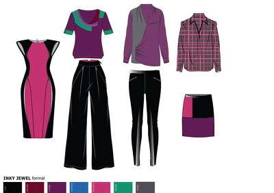 Design a fashion capsule collection of 6 garments
